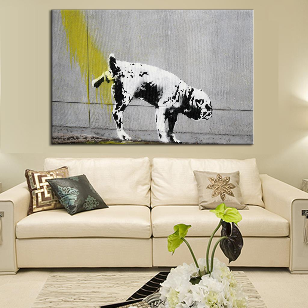 Wall decals choose an option 8x12 in 16x24 in 24x36 in - Aliexpress Com Buy 1 Pcs Banksy Art Dog Urinating Canvas Prints Painting Modern Abstract Dog Pee Anywhere Wall Painting For Home Decor From Reliable