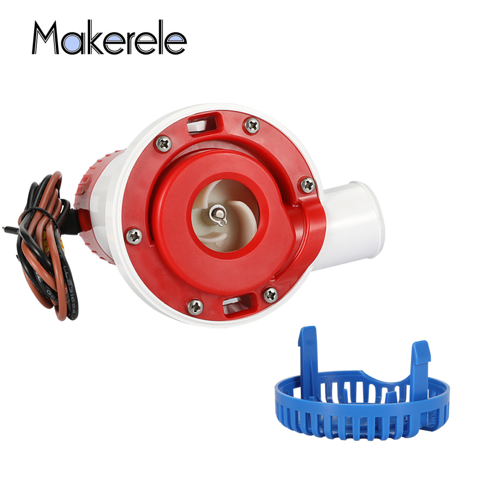 DC 12V Bilge Pump High Flow Submersible Electric 1500 GPH Water Pump For Submersible Seaplane Motor Houseboat Boats Low Pressure in Pumps from Home Improvement