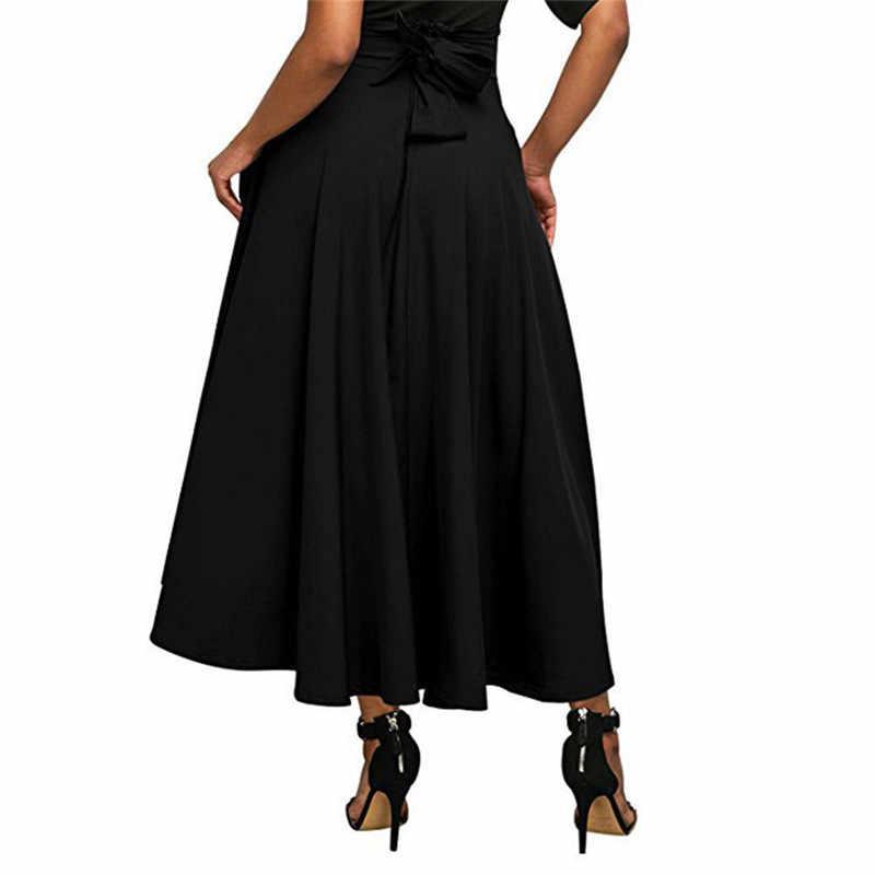 b7eba2d7896 Модные женские расклешенное плиссированное  Винтаж для женщин стрейч  высокая талия юбки для лето 2018 г. Модные женские расклешенное  плиссированное ...