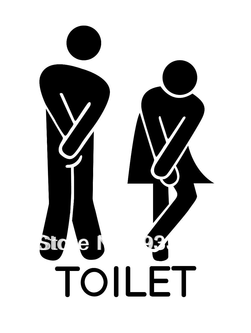 DIY Funny Toilet Fashion bathroom logo 1 Pattern PVC glass or ...