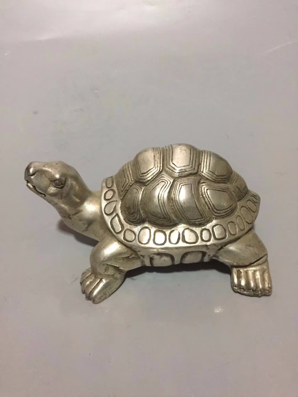 Collection tibet argent tortue statue, maison/bureau bureau décoration feng shui tortue sculpture