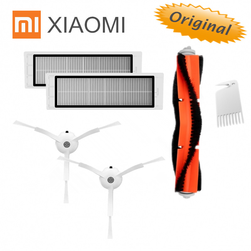 Main Brush+white Comb+2pcs Filters Vacuum Cleaner Parts For Xiaomi Mijia Roborock Vacuum Cleaner Home Appliances