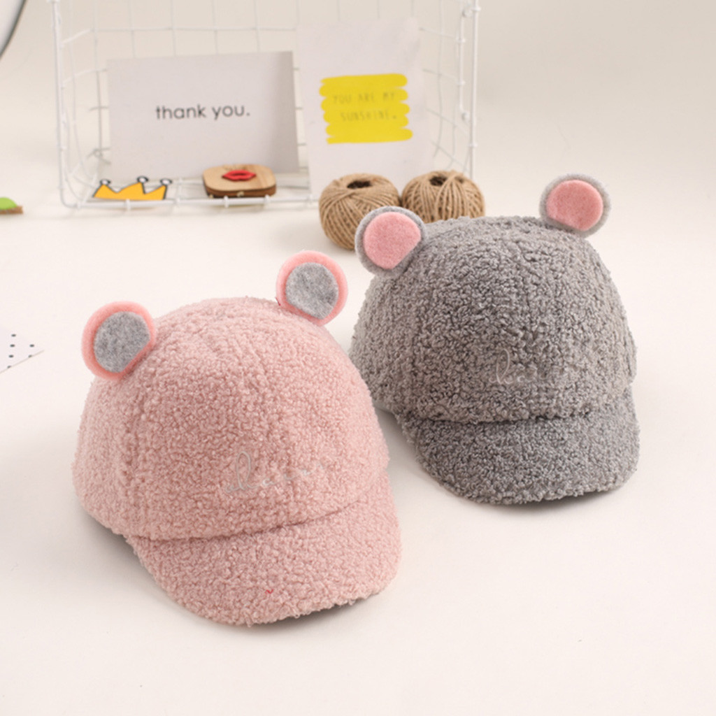 Mother & Kids Bright Cute Baby Hat Winter Newborn Christmas Cute Kids Child Girl&boy Bongrace Winter Warm Hat Peak Baseball Cap Mj1119