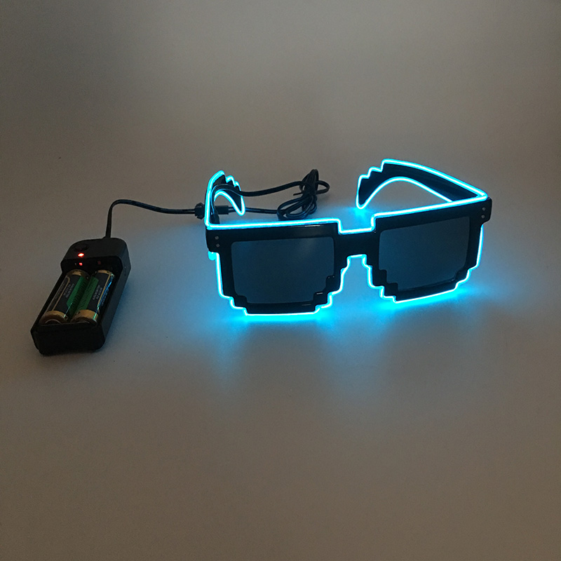 ALI shop ...  ... 32256443641 ... 2 ... 2018 DIY color glasses Pixel Light Up El Wire Led Flashing Glasses  EDM EDC Rave Party Bar Eyeswear Accessory Sunglasses ...