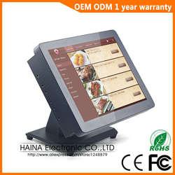 Хайна Touch 15 дюймов металл настенное крепление и настольных Сенсорный экран все в одном POS Системы