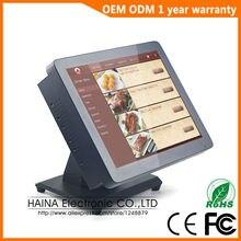 Haina Touch 15 дюймовый металлический настенный и настольный сенсорный экран все в одном
