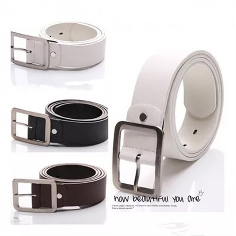 Faux Leather Belt Men's Casual Buckle Waist Strap Belts High Quality Bow Casual Solid Automatic Dropshipping