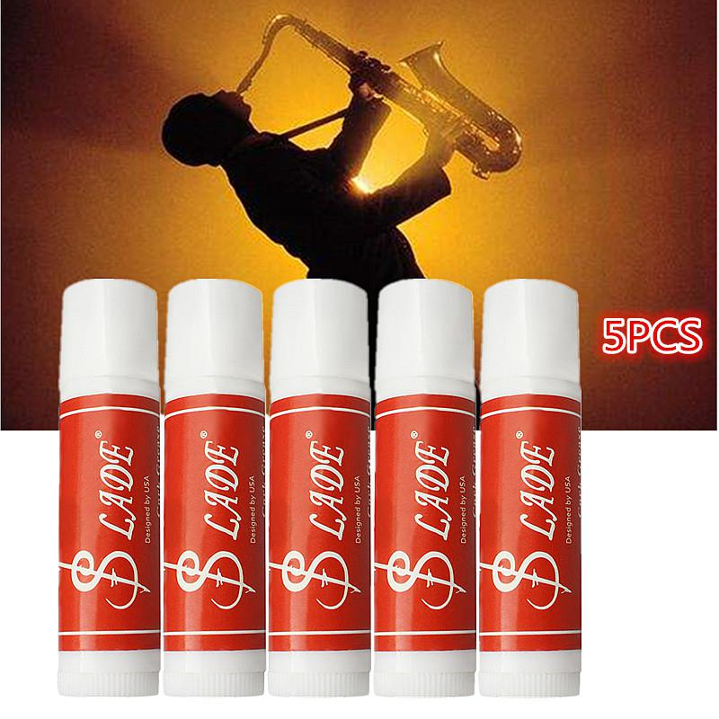 5pcs Premium Cork Grease Delicate Smooth Waterproof For Clarinet Saxophone Oboe Flute Wind Instruments Parts & Accessory