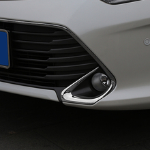 Free Shipping High Quality ABS Chrome Front Fog lamps cover Trim Fog lamp shade Trim For Toyota Camry недорого