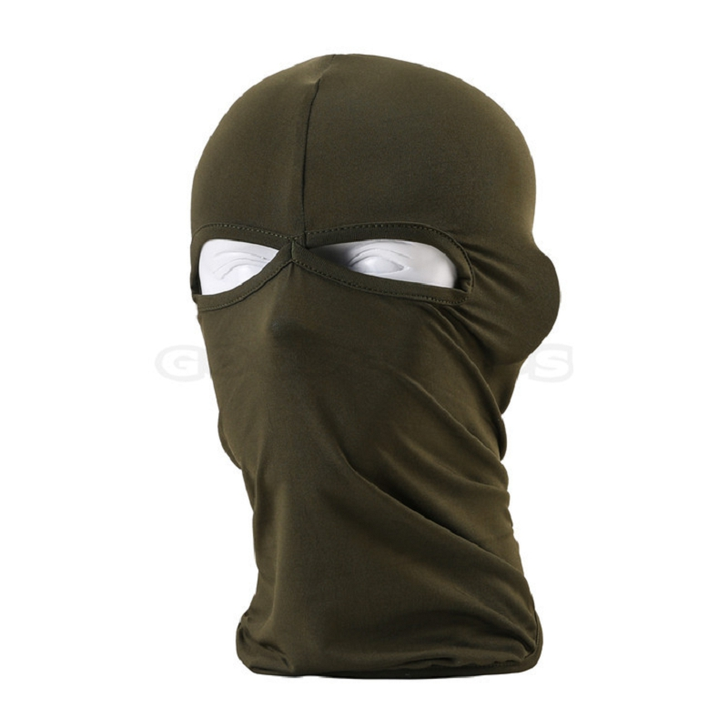 Hot Sale! 2 Hole Lycra Skull Full Face Mask Balaclava Ski Winter Cap Beanies Hood Hiking Tactical Outdoor Sports Cycling Hat ...