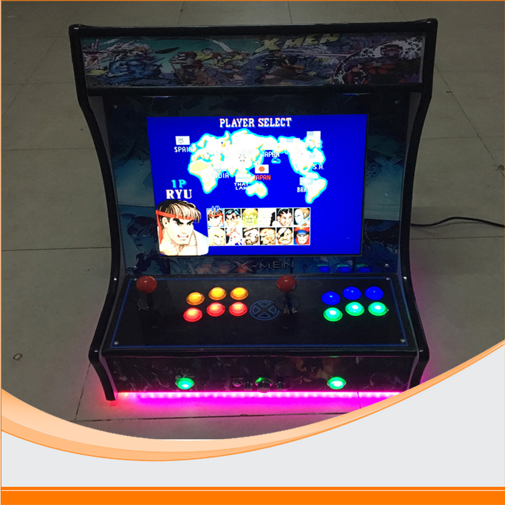 22 inch LCD coin-operated Mini Arcade Machine With Classical Game 960 In 1 PCB/With long shaft joystick and Illuminated button mr arcade game king 2019 in 1 multi game board built in ssd card multi classical games pcb