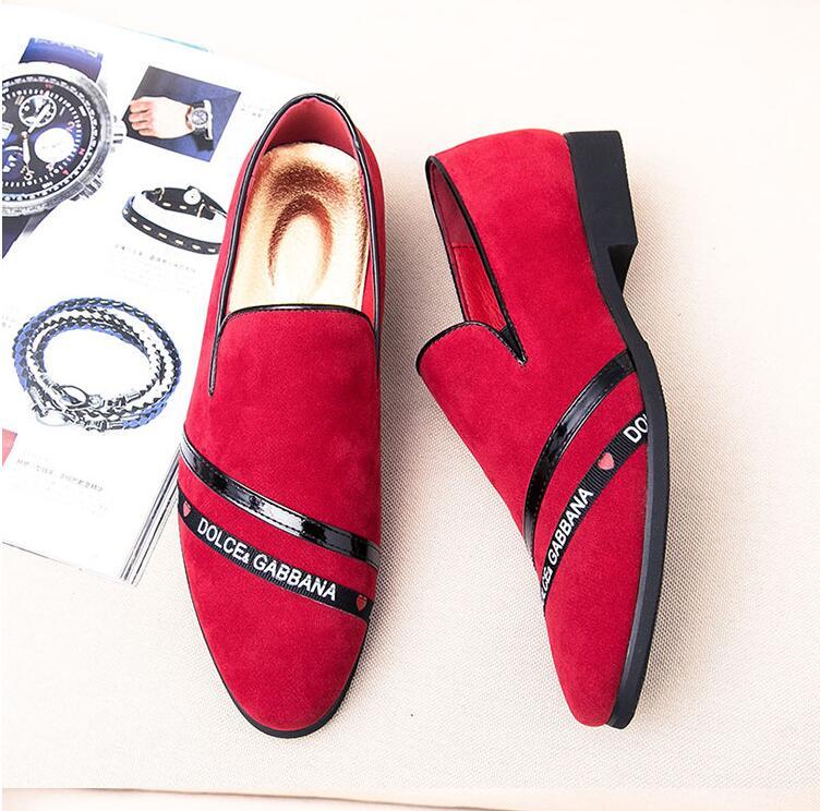 rouge Luxe Sur Marque Noir De Cuir Hommes Chaussures Causal Partie Casual Conduite Mocassins Glissement Vache Appartements En 7waxqBE1