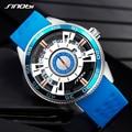 Новые SINOBI Мужские часы модные синие часы для мужчин люксовый бренд Мужские Хронограф Спортивные Военные Силиконовые наручные часы водонеп...