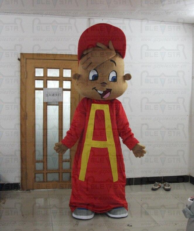Горячие продажи элвин талисман костюмы новый мультфильм бурундук костюм