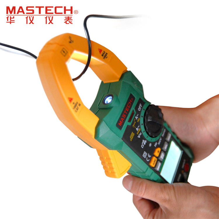 MASTECH MS2015B 1000A AC Clamp Meters with Resistance,Capacitance,Frequency,Temperature and NCV Test mastech ms2015b 6600 counts 1000a ac clamp meters w capacitance frequency temperature