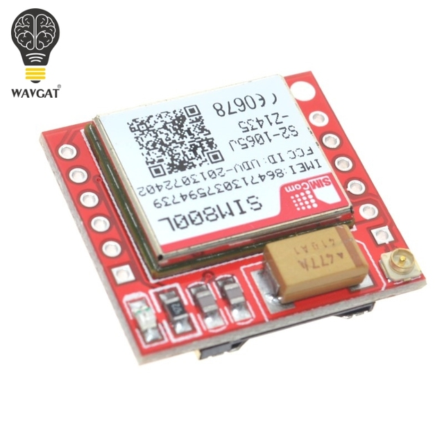 SIM800L GPRS and GPS Module with Antenna and Pin Headers