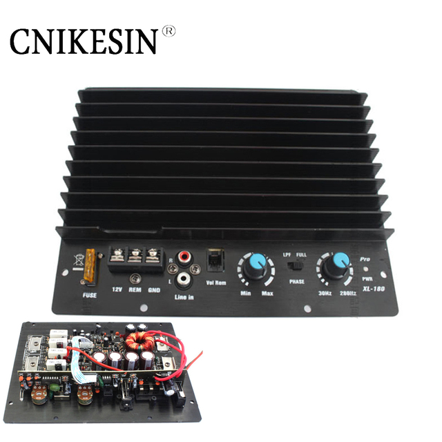 Best Price CNIKESIN High power 200w active subwoofer amplifier board cannon power amplifier Single channel car amplifier The bass is strong