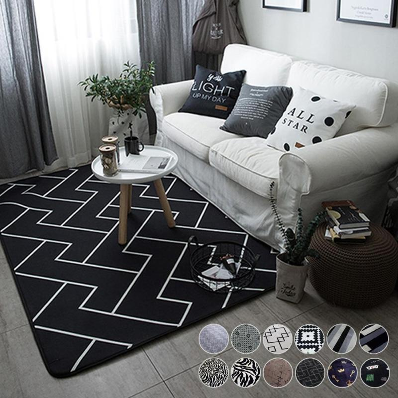 Modern Rugs Washable Red Carpet Mats Bedroom Non Slip Floor Area Rug For Living Room 4575 Cm Home Ornaments 3