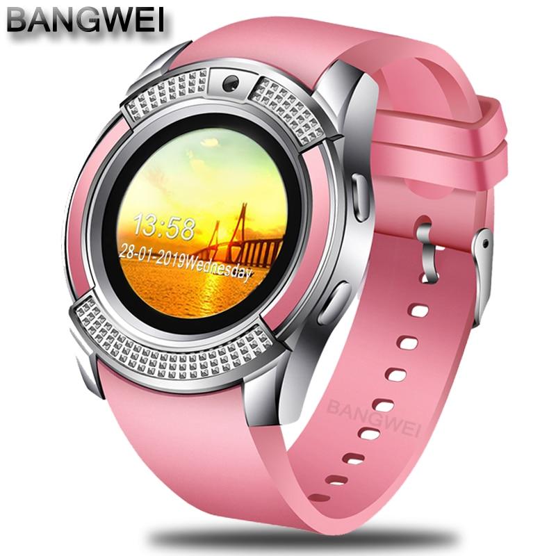 BANGWEI 2019 Neue Frauen Smart Uhr LED Farbe Screen Mode Sport Schrittzähler Uhr Android Smart Telefon Uhr Relogio inteligente