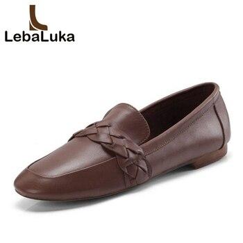 LebaLuka 2019 nuevos zapatos de cuero auténtico zapatillas