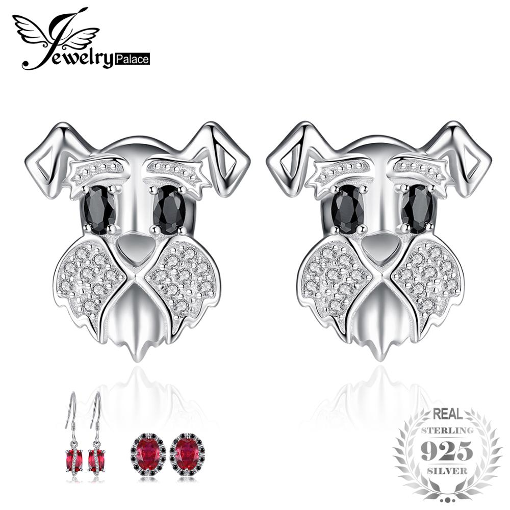 JewelryPalace Schnauzer Terrier Dog Puppy Pet Lover Genuine Black Spinel Stud Earrings 925 Sterling Silver Pet Dog AnimalJewelryPalace Schnauzer Terrier Dog Puppy Pet Lover Genuine Black Spinel Stud Earrings 925 Sterling Silver Pet Dog Animal