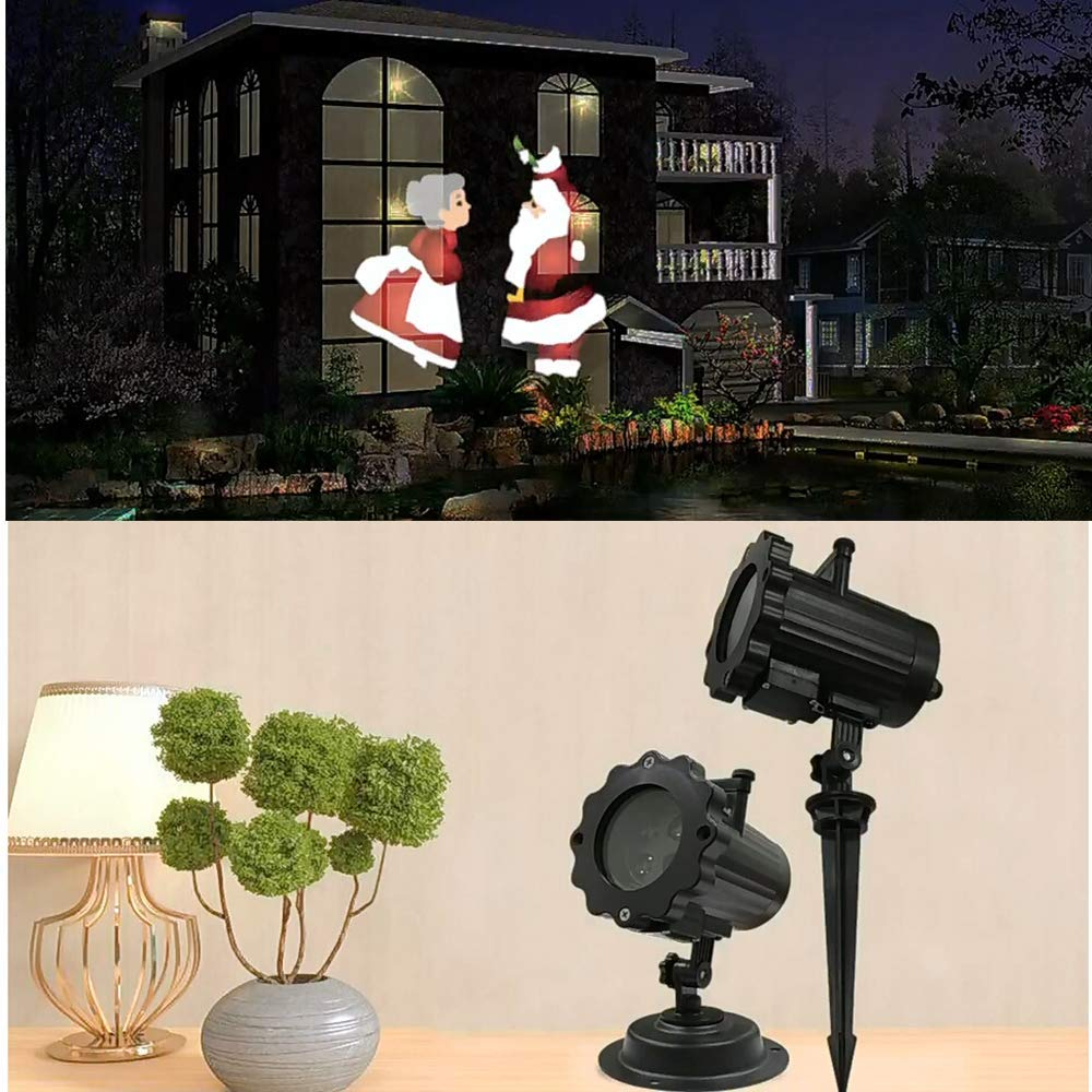 Santa Claus Snowman LED Animation Light Christmas Party Projection Lamp Remote Control with Timer Player Rotating Constellation plus size christmas santa claus snowman hoodie