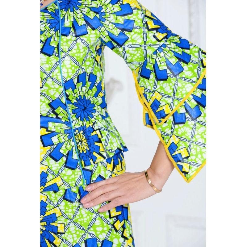 klassisk afrikansk klær for kvinner todelt dress avrikansk - Nasjonale klær - Bilde 5