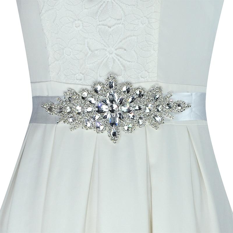 Wedding Gown Belts And Sashes: 1 Pc Handmade Floral Crystal Rhinestone Wedding Dress Belt