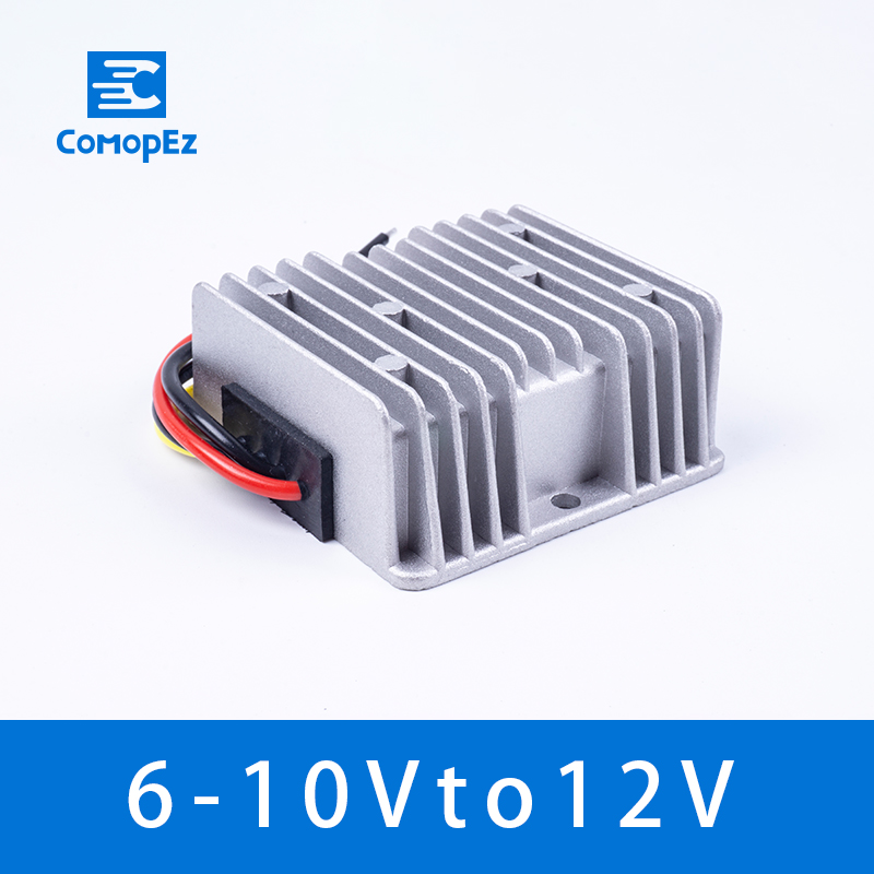 Waterproof DC 6V To 12V Converter 6V-10V to 12V 5A8A10A Regulator Voltage Power DC to DC Converter Step Up Voltage for <font><b>Motor</b></font> LED image