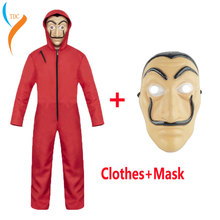 Halloween Salvador Dali Cosplay Movie Mask Money Heist The House of Paper La Casa De Papel Costume Face for adult