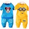 Promoção conjunto de roupas menino Asseclas Minnie meninas roupas de algodão de manga longa crianças roupas preço por atacado bebê criança esporte terno