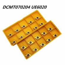 10PCS Carbide tool DCMT070204 UE6020 external turning high quality carbide cutting lathe metal