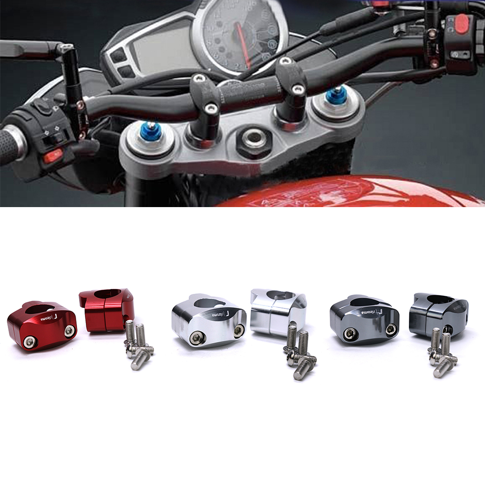 Universal 22mm Motorcycle Handlebar Handle Bar Riser Clamps For Z650 Cover Raiser Stang Silver Tmax 530 Triumph Tiger 800 Cb500x Scrambler Crf 230 Nc750x