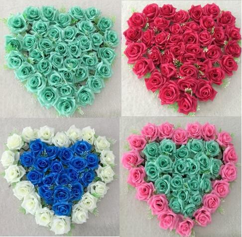 Wedding Car Decorations Rose Heart Wreaths Silk Flowers Door Wreaths Lovely  Wedding Door Decorations Tiffany Blue