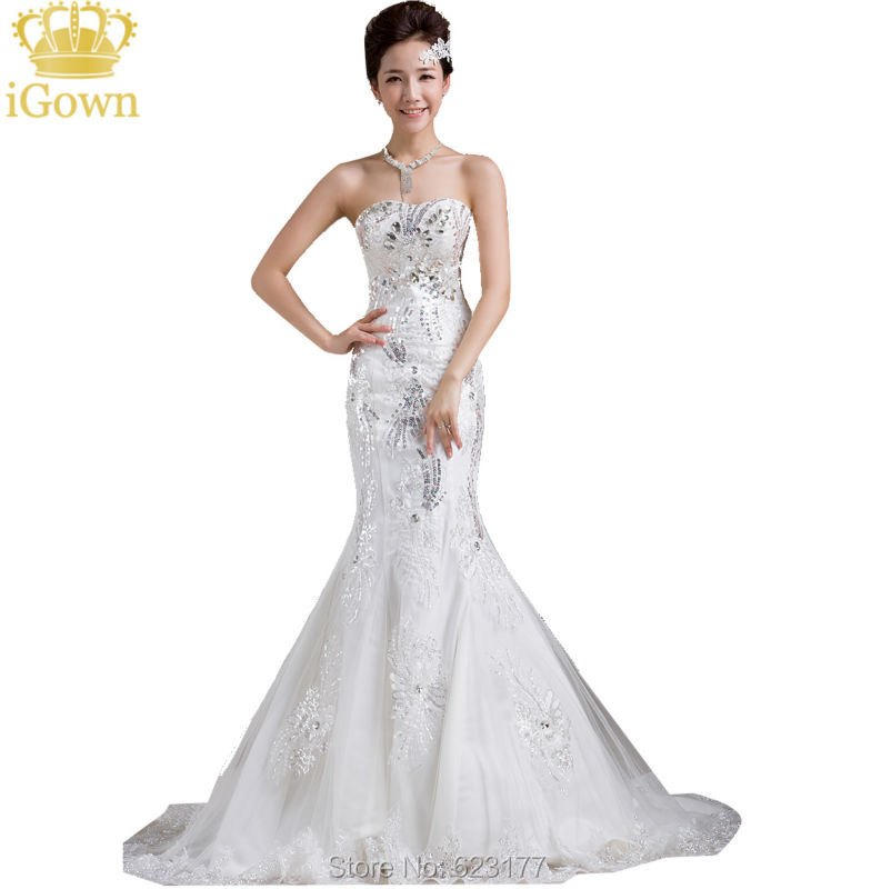 Buy luxurious sexy mermaid wedding for Wedding dresses to buy off the rack
