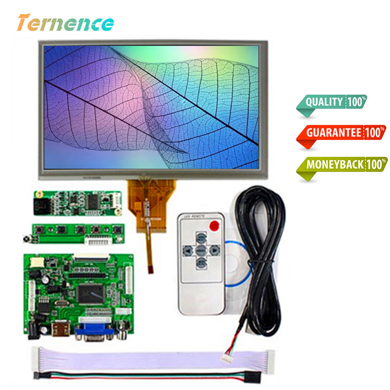 Skylarpu 7inch Complete LCD Display Touch Screen TFT Monitor AT070TN90 LCD HDMI VGA Input Driver Board Controller Raspberry Pi raspberry pi 3 model b 7 inch lcd touch screen display tft monitor at070tn90 with touchscreen kit hdmi vga input driver board