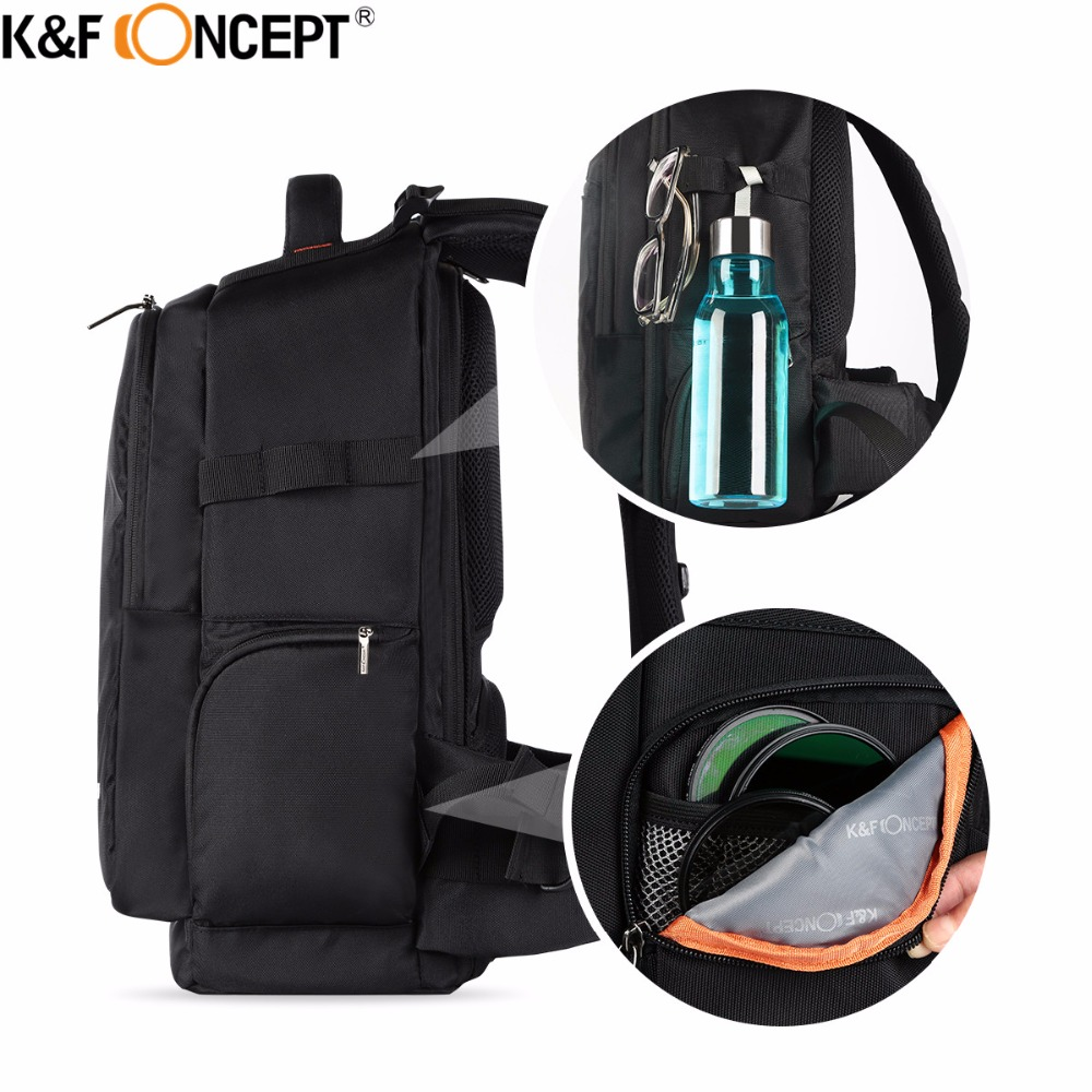 Aliexpress.com : Buy K&F CONCEPT Multifunctional Waterproof Camera Backpack  DSLR Bag + Rain Cover hold 2 Camera+Lens+Items for Laptops Cameras Large  from ...