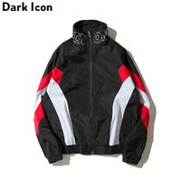 DARKICON Color Block Stand Collar Streetwear Men S Jacket 2017 Autumn Casual Jackets Men