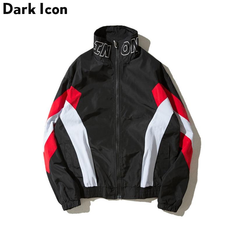 DARKICON цвет блок Стенд воротник Уличная Для мужчин куртка осень 2017 г. повседневные куртки