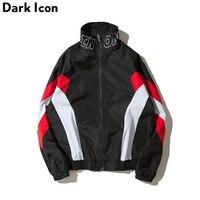 DARKICON Color Block Stand Collar Streetwear Men S Jacket 2017 Autumn Casual Jackets Men