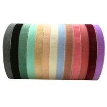 10 jardas 1cm de veludo macio fita elástica para diy costura bandana clipes arco casamento decoração natal 22 cores