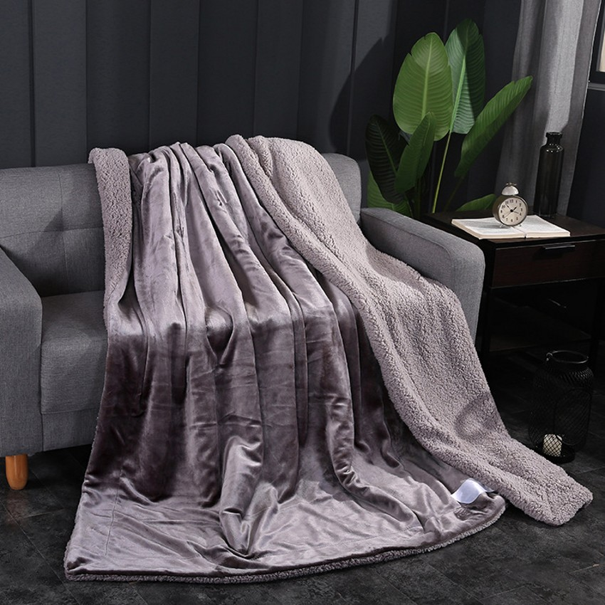 Winter Weighted Reversible Fur Sherpa Throw Blankets For