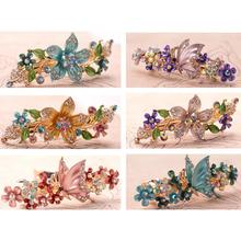 Women Lady Girl Bride Butterfly Flower Hair Clip Snap Barrette Comb Stick Claw Crab Clamp Hairpin