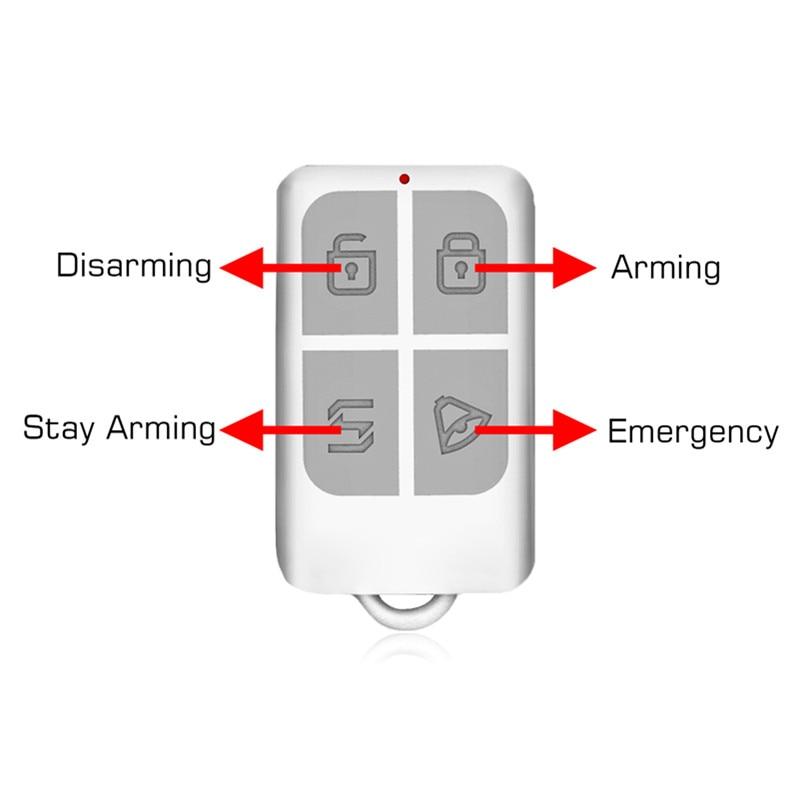 KERUI Wireless Remote Control Arm/Disarm Keychain Detector For Touch Keypad Panel GSM PSTN Home Security Burglar Alarm System kerui kr rc531 keychain remote control for wireless alarm system