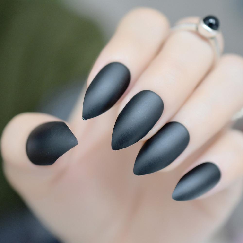 Old Fashioned Acrylic Nails Matte Black Elaboration - Nail Art Ideas ...