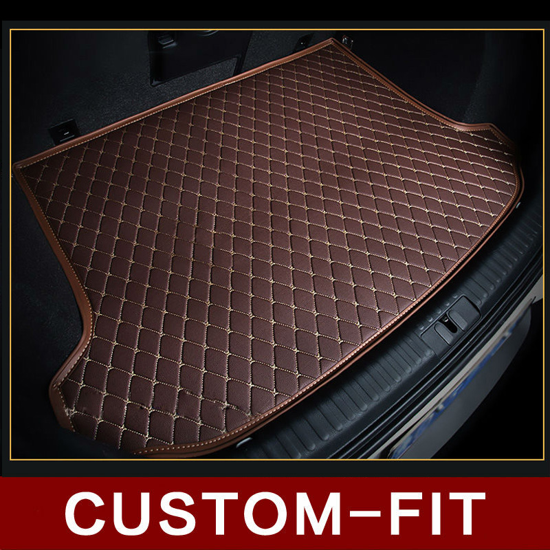 Custom fit car trunk mat for PEUGEOT 205 206 207 208 306 307 308 309 405 406 407 408 3008 car tyling tray carpet cargo liner 3d car styling custom fit car trunk mat all weather tray carpet cargo liner for honda odyssey 2015 2016 rear area waterproof