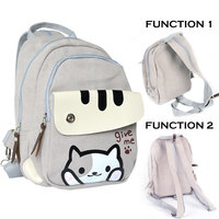 Japanese Game Neko Atsume Multi function Shoulder Bags Two Choice for Picnic School Use