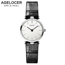 Swiss Ultra Slim Quartz Watches Women Business AGELOCER Brand Leather Analog Women's Fashion 2019 Watch relojes hombre