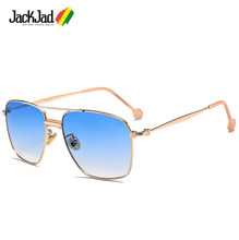 Jackjad óculos de sol unissex, óculos de sol quadrado, estilo aviador, para homens e mulheres 17038