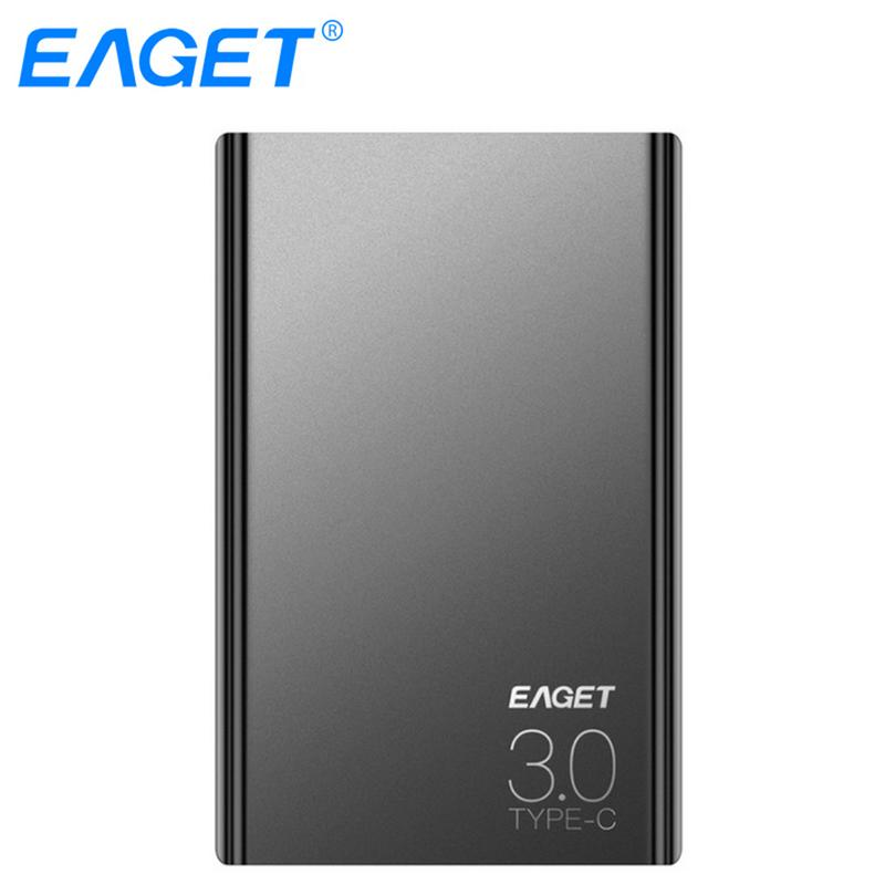 EAGET External Hard Drives 1TB HDD 2.5 Inch High Speed Type C 3.0 Hard Disk Ultra-thin USB C Mobile HDD For Laptops Desktop eaget external hard drive 1tb hdd type c 3 0 externo disco storage devices laptop 2 5 ultra thin high speed 3 1 hard disk 1tb